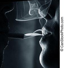 fumar, pessoas