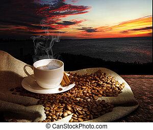 fumegue café, copo