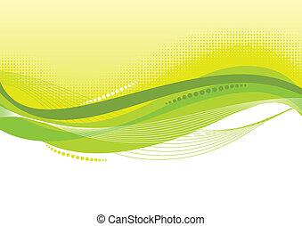 fundo, abstratos, verde