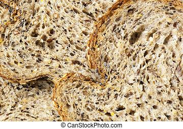 fundo, alimento, pão