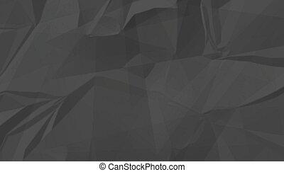 fundo, amarrotado, textura, pretas, vazio, papel