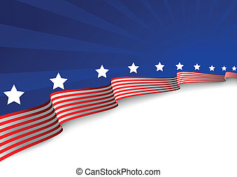 fundo, bandeira americana
