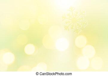 fundo, brilhar, snowflake, amarela