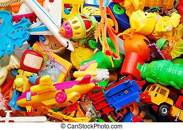 fundo, brinquedos