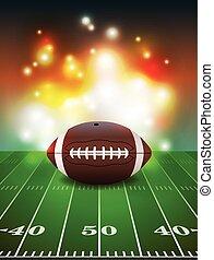 fundo, campo, futebol americano