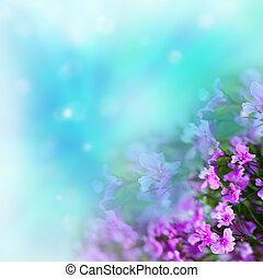 fundo, flores, abstratos