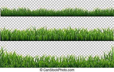 fundo, fronteiras, verde, jogo, capim, transparente