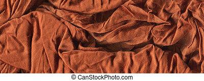 fundo, grosseiro, macro, tiroteio, cor, amarrotado, textura, marrom, têxtil, tecido, tecido