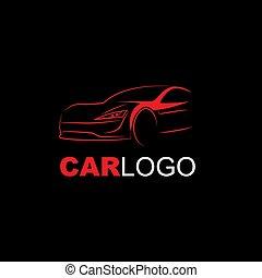 fundo, linha, abstratos, preto vermelho, modernos, logotipo, car, arte
