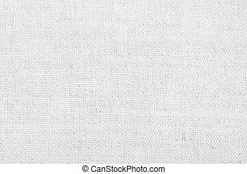 fundo, linho, textura, branca