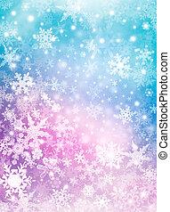 fundo, neve, coloridos