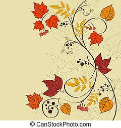 fundo, outono