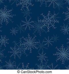 fundo, repetindo, natal, snowflake, seamless
