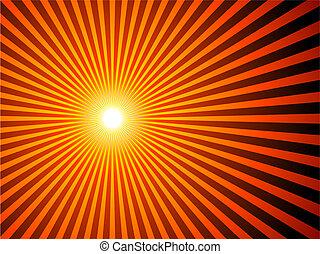 fundo, sunburst