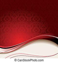fundo, vermelho, bege