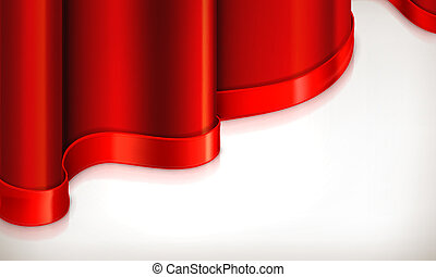 fundo, vetorial, vermelho, convite