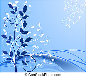 fundos, vetorial, floral, abstratos