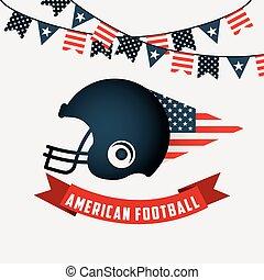 futebol, americano, desenho