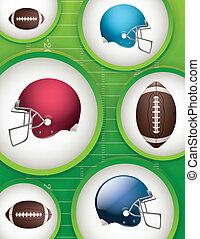futebol americano, fundo, ilustração
