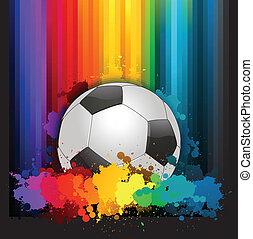 futebol, coloridos, fundo