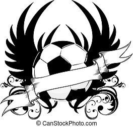 futebol, emblema, equipe