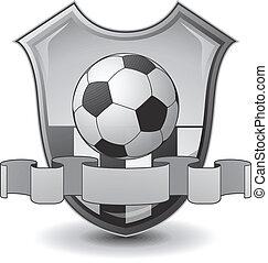 futebol, emblema, escudo