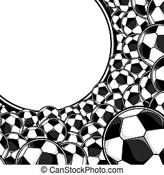 futebol, fundo, bolas