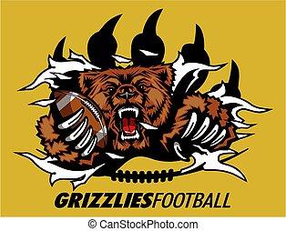 futebol, grizzlies