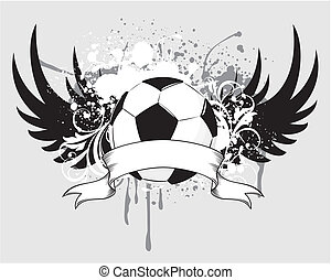 futebol, grunge, blason