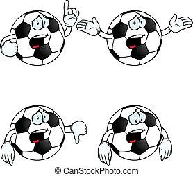 futebol, jogo, caricatura, chorando
