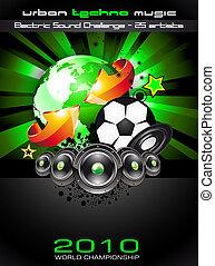 futebol, navio, fundo, partido, campeão, voador, discoteca, mundo
