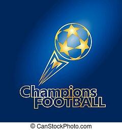 futebol, ouro, bola, campeões, futebol