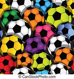 futebol, seamless, textura