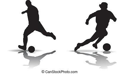 futebol, silueta