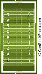 futebol, vertical, textured, americano, campo grama