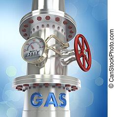 gás, oleoduto, conceito, -
