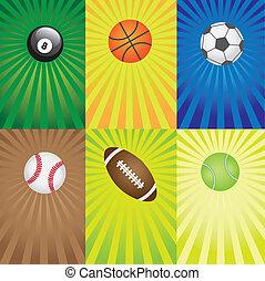games., jogo, desporto, bolas