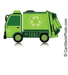 garbage., car