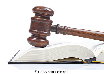 gavel madeira, livro lei