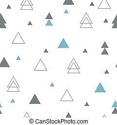 geomã©´ricas, pattern., seamless, triângulos, repetindo