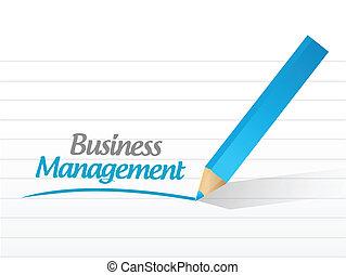 gerência, desenho, ilustração negócio, sinal