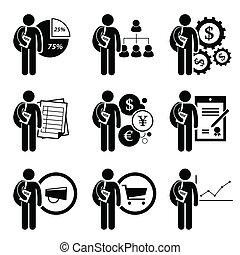 gerência, grau, negócio