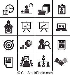 gerência, jogo, 228-2organization, negócio, ícone