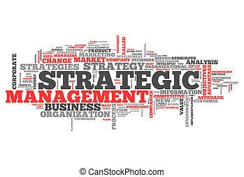 gerência, palavra, nuvem, estratégico