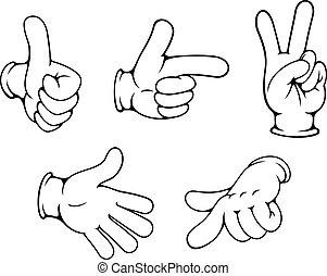 gestos, positivo, jogo, mãos