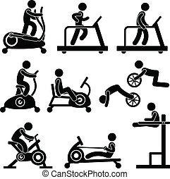 ginásio, ginásio, exercício, condicão física