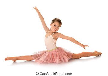 ginasta, cute, pequeno