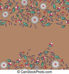 girassol, flor, seamless, fundo