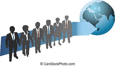 global, futuro, trabalho, pessoas negócio