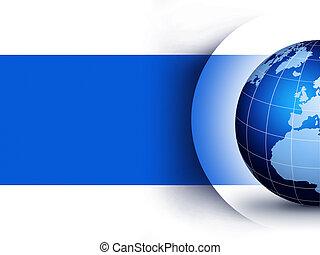 globo mundial, desenho, conceito